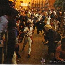 Postales: PAMPLONA - 2 ENCIERRO DE LOS TOROS. Lote 31263406