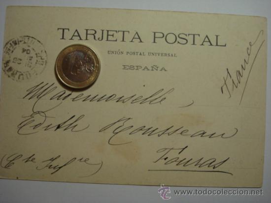 Postales: 8 VERA NAVARRA RARA POSTAL AÑOS 1899 REVERSO SIN DIVIDIR - CIRCULADA EN 1904 - Foto 3 - 31650004