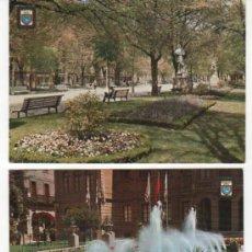 Postales: 2 POSTALES DE PAMPLONA. JARDINES DE LA DIPUTACIÓN Y PASEO DE SARASATE.. Lote 32119742