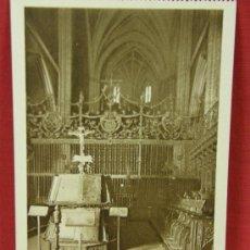 Postales: TARJETA ED. L. ROISIN BARCELONA 26 PAMPLONA CATEDRAL VERJA DEL CORO (SIGLO XVI). Lote 32293375