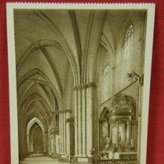 Postales: TARJETA ED. L. ROISIN BARCELONA 23 PAMPLONA CATEDRAL NAVE DEL EVANGELIO (SIGLO XV). Lote 32293404