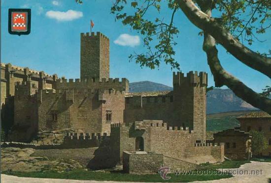 POSTAL - CASTILLO DE JAVIER - NAVARRA - ES. DE ORO - FISA - INDUSTRIAL S.A. - 1 (Postales - España - Navarra Moderna (desde 1.940))