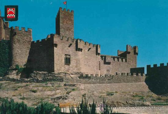 POSTAL - CASTILLO DE XAVIER - NAVARRA - ES. DE ORO - FISA - INDUSTRIAL S.A. - 18 (Postales - España - Navarra Moderna (desde 1.940))