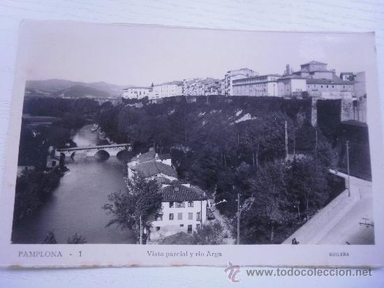 PAMPLONA - VISTA PARCIAL Y RIO ARGA (Postales - España - Navarra Moderna (desde 1.940))