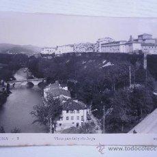 Postales: PAMPLONA - VISTA PARCIAL Y RIO ARGA. Lote 33305070