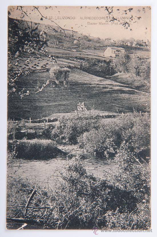 POSTAL DE ELIZONDO Nº 12, ALREDEDORES DE ELIZONDO, FOTOGRAFIA EN BLANCO Y NEGRO (Postales - España - Navarra Moderna (desde 1.940))