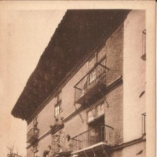 Postales: SANGÜESA (NAVARRA), CASA DE LOS MARQUESES DE VALLE SANTORO - ED.E.ALMIRALL, CLIXE L. ROISIN. Lote 34659623