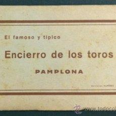 Postales: EL FAMOSO Y TÍPICO ENCIERRO DE LOS TOROS, PAMPLONA. SAN FERMÍN. 10 POSTALES. . Lote 34668564