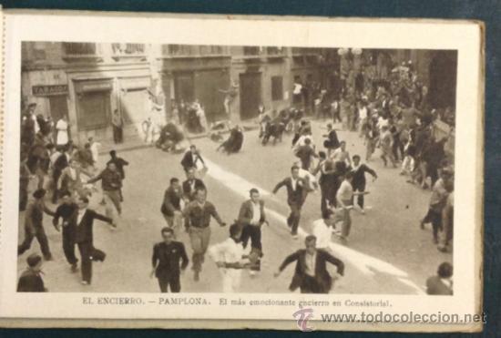 Postales: EL FAMOSO Y TÍPICO ENCIERRO DE LOS TOROS, PAMPLONA. SAN FERMÍN. 10 POSTALES. - Foto 6 - 34668564