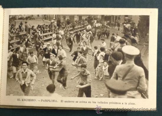 Postales: EL FAMOSO Y TÍPICO ENCIERRO DE LOS TOROS, PAMPLONA. SAN FERMÍN. 10 POSTALES. - Foto 4 - 34668564