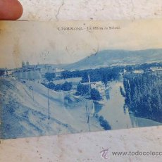 Postales: POSTAL PAMPLONA 5 LA RIBERA DE BELOSO ESCRITA P-1383. Lote 34869581