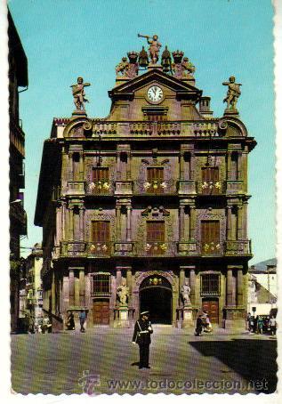 PAMPLONA EDIFICIO DEL AYUNTAMINETO***GARCIA GARRABELLA***SIN CIRCULAR (Postales - España - Navarra Moderna (desde 1.940))
