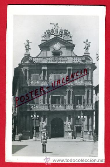 POSTAL PAMPLONA, CASA MUNICIPAL, P74520 (Postales - España - Navarra Antigua (hasta 1.939))