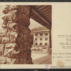 Postales: SIERRA DE URBASA - SAN MIGUEL EXCELSIS- COLONIAS ESCOLARES CAJA DE AHIORROS DE NAVARRA - (12.884). Lote 35449812