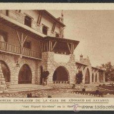 Postales: SIERRA DE URBASA - SAN MIGUEL EXCELSIS- COLONIAS ESCOLARES CAJA DE AHIORROS DE NAVARRA - (12.894). Lote 35449924