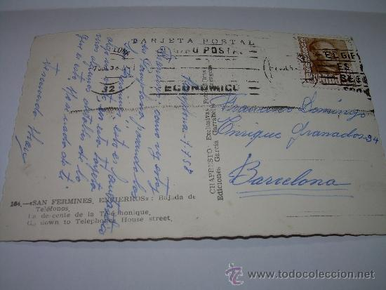Postales: ANTIGUA POSTAL...SAN FERMIN....ENCIERROS..BAJADA DE TELEFONOS. - Foto 2 - 35635710