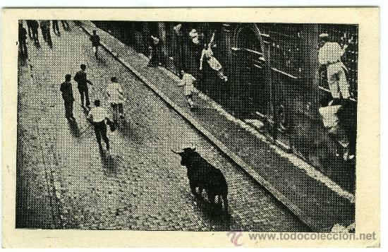 POSTAL ENCIERRO DE TOROS PAMPLONA? (Postales - España - Navarra Moderna (desde 1.940))