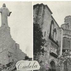 Postales: TUDELA.-MULTIVISION.-MONUMENTO SAGRADO CORAZON Y CATEDRAL.-EDICIONES PARIS Nº 42. Lote 36066803