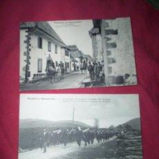 Postales: 2 POSTALES RONCESVALLES FRANCESAS REGRESO PROCESION BURGUETE. Lote 36199453