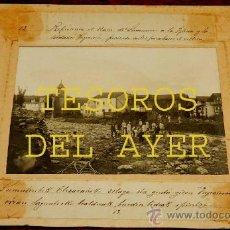 Postales: ANTIGUA FOTOGRAFIA ALBUMINA DE INUNDACIONES DE ERRAZU, ELIZONDO, PRODUCIDAS EN 1913 POR EL DESBORDAM. Lote 36236994