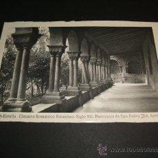 Postales: ESTELLA NAVARRA PARROQUIA DE SAN PEDRO CLAUSTRO ROMANICO BIZANTINO. Lote 36287647