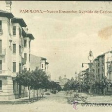 Postales: PAMPLONA (NAVARRA).- NUEVO ENSANCHE: AVENIDA DE CARLOS III EL NOBLE. Lote 36602607