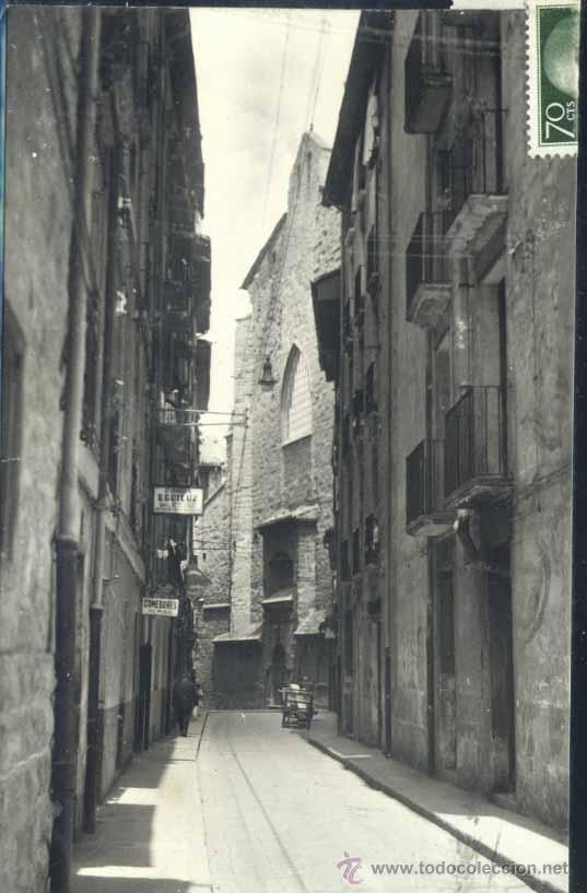 PAMPLONA (NAVARRA).- CALLE DE LA CAMPANA, AL FONDO SAN FERMIN (Postales - España - Navarra Moderna (desde 1.940))