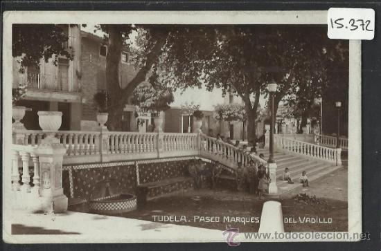 TUDELA - PASEO MARQUES DEL VADILLO - FOTOGRAFICA - (15.372) (Postales - España - Navarra Antigua (hasta 1.939))