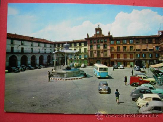 POSTAL PLAZA DE LOS FUEROS. TUDELA. NAVARRA. PARIS. J.M. (Postales - España - Navarra Moderna (desde 1.940))