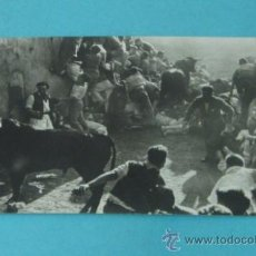 Postales: TARJETA POSTAL FOTOGRÁFICA ZUBIETA Y RETEGUI. ENCIERRO SAN FERMÍN. Lote 37982667