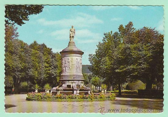 PAMPLONA, MONUMENTO A GAYARRE, EDITOR: GARCIA GARRABELLA Nº 7 CIRCULADA EN 1963, VER EL DORSO (Postales - España - Navarra Moderna (desde 1.940))