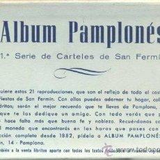 Postales: 3 ALBUMES DE SERIES DE CARTELES DE SAN FERMIN- COMPLETOS. Lote 38694672