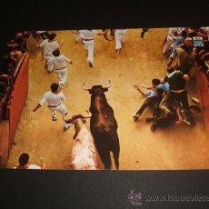 Postales: PAMPLONA NAVARRA FIESTAS DE SAN FERMIN EL ENCIERRO. Lote 39047941
