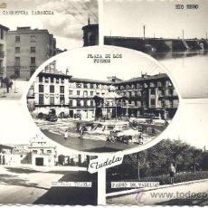 Postales: PS1165 TUDELA - POSTAL CON CINCO VISTAS. ED. DARVI. CIRCULADA. Lote 39279096