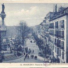 Postales: PS0793 PAMPLONA 'PASEO DE SARASATE'. L. ROISIN. SIN CIRCULAR. Lote 39279132