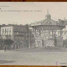 Postales: ANTIGUA POSTAL DE PAMPLONA (NAVARRA). VIUDA DE RUBIO - PLAZA DE LA CONSTITUCION Y HOTE DE LA PERLA -. Lote 38250938