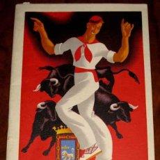 Postales: ANTIGUO PROGRAMA DE FESTEJOS DE SAN FERMIN 1952 - PAMPLONA - MIDE 20,5 X 12 CMS - 24 PAG APROX - CON. Lote 38254285