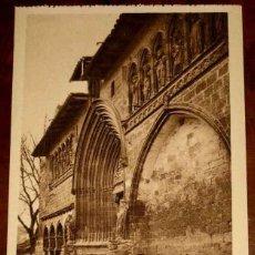 Postales: ANTIGUA POSTAL DE ESTELLA (NAVARRA) EXTERIOR DE LA IGLESIA DEL SANTO SEPULCRO (NAVARRA ASTISTICA) L.. Lote 38254352