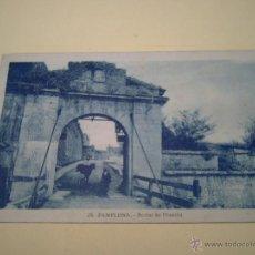 Postales: 15 PAMPLONA - PORTAL DE FRANCIA - L. ROISIN FOTÓGRAFO. Lote 40281458
