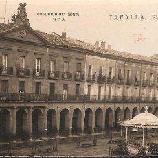 Postales: POSTAL TAFALLA PLAZA DE NAVARRA COLECCIONES MUR NUM 8 CALIDAD FOTOGRAFICA. Lote 40372856