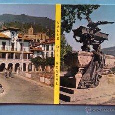 Postales: POSTAL DE NAVARRA. AÑO 1969. RONCAL, AYUNTAMIENTO MAUSOLEO TENOR GAYARRE. 159. Lote 40719742