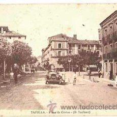 Postales: NAVARRA TAFALLA PLAZA DE CORTES ( D. TEOFANO ). CIRCULADA. Lote 271555898