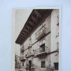 Postales: ANTIGUA POSTAL DE SANGÜESA - CASA DE LOS MARQUESES DE VALLE SANTORO ( SIGLO XVII) - ROISIN Nº 66 - D. Lote 40807754
