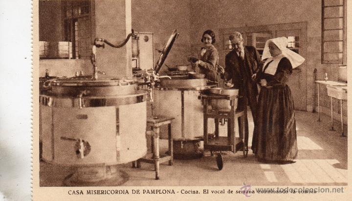 PAMPLONA. CASA MISERICORDIA. COCINA (Postales - España - Navarra Antigua (hasta 1.939))