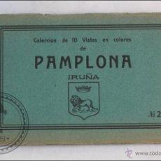 Postales: TACO 10 POSTALES. COLECCIÓN 10 VISTAS COLORES DE PAMPLONA. IRUÑA. Nº2 - ED.ANTONIO ECHAIDE - NAVARRA. Lote 41109157