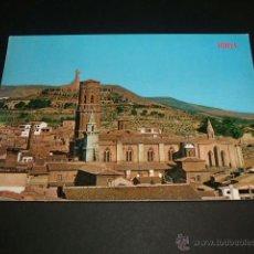 Postales: TUDELA NAVARRA CATEDRAL SIGLO XII, AL FONDO EL SAGRADO CORAZON DE JESUS. Lote 41221081