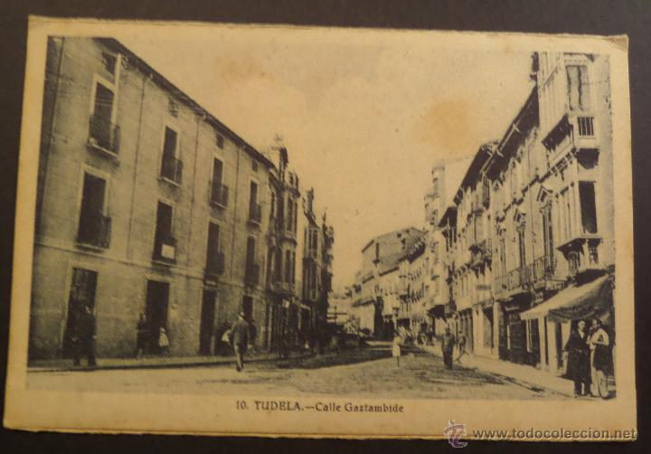 TUDELA CALLE GAZTAMBIDE. (Postales - España - Navarra Antigua (hasta 1.939))