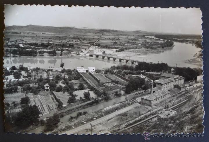 TUDELA 3, MEJANA. PUENTE DE PIEDRA Y RIO EBRO. POSTAL NUEVA SIN USAR. (Postales - España - Navarra Moderna (desde 1.940))