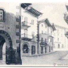 Postales: ELIZONDO. PLAZUELA DE RIBOT APUNTES VASCOS DEL BAZTÁN POR F. ECHENIQUE, CON PUBLICIDAD (VER REVERSO). Lote 42290202