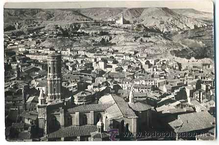 NAVARRA TUDELA CATEDRAL Y MONUMENTO AL SAGRADO CORAZON ED. AEROPOST. SIN CIRCULAR (Postales - España - Navarra Moderna (desde 1.940))